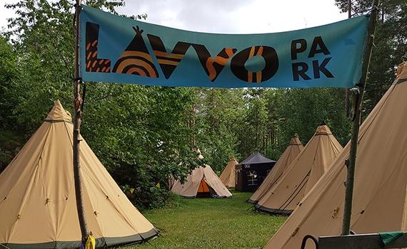 Lavvotell på sørlandet under Skjergårds festivalen.